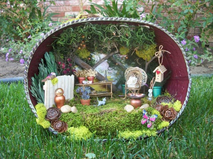creative ways to use container for fairy garden