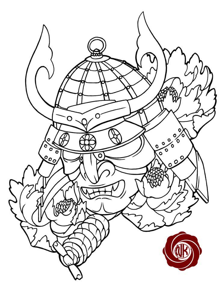 Samurai 2 sketch tattoo by Punk01.deviantart.com on @DeviantArt