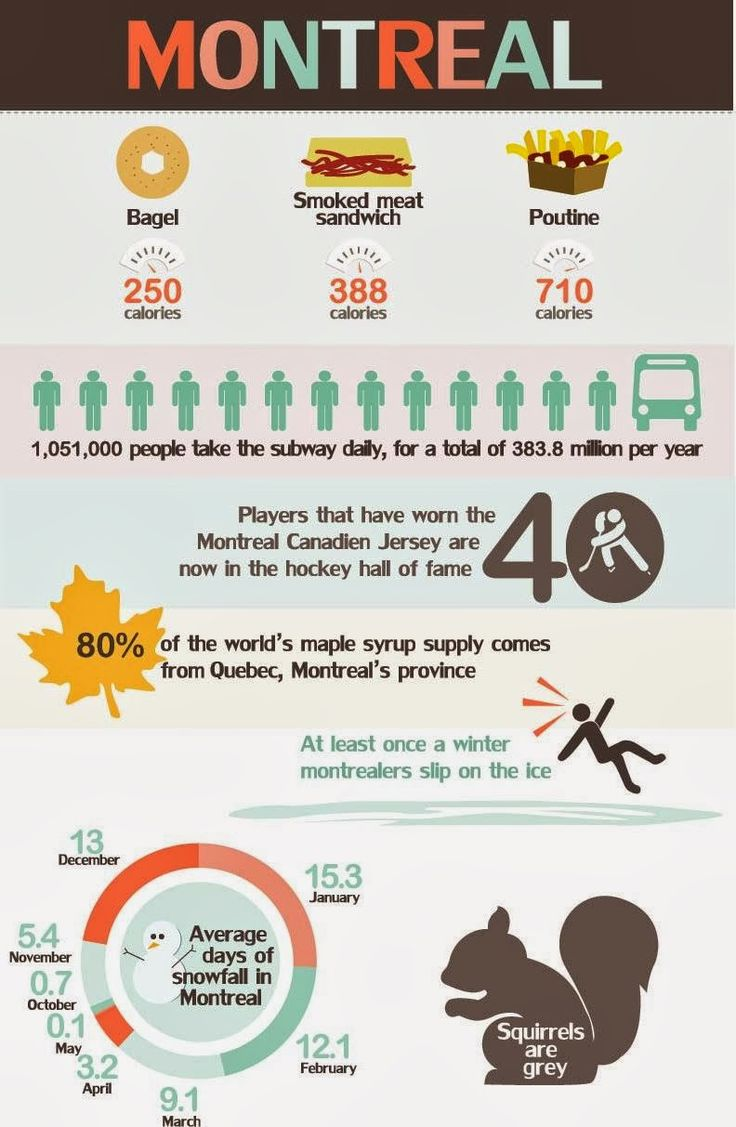 Montreal infography and fun facts