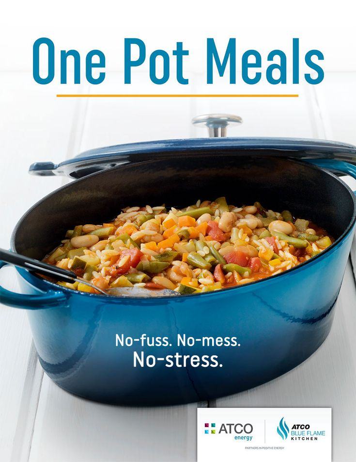 Download our new, FREE digital cookbook, One Pot Meals! One pot meals for no-fuss, no-mess and no-stress cooking!