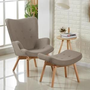 Fauteuil scandinave taupe - Stockholm