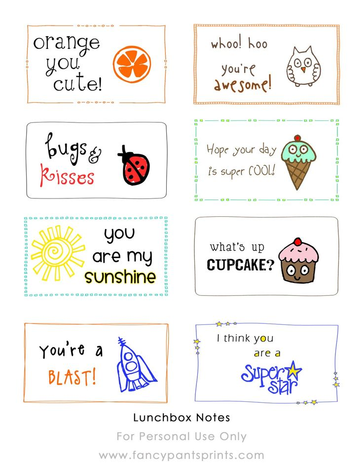 This is a graphic of Astounding Cute Lunch Notes