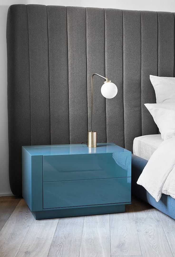 Blue modern master bedroom - 20 Contemporary Nightstands For A Modern Master Bedroom