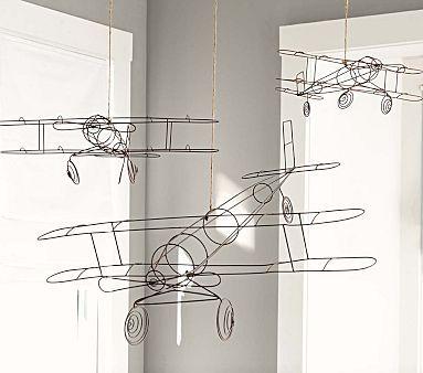 Wire Hanging Airplanes #pbkids