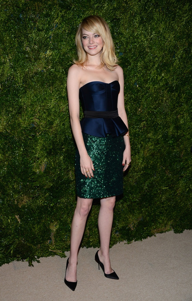 This Year's Best-Dressed Celebrities and Models Photo 1#0: Cfda Vogue Fashion, Fund Awards, Colors Combos, Blue Green, Red Carpets, Burberry Prorsum, Jewels Tones, Fashion Fund, Emma Stones
