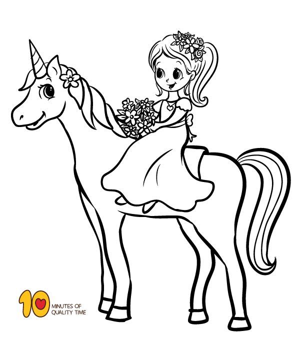 Coloring Page Girl Riding A Unicorn Bunny Coloring Pages Unicorn Coloring Pages Dolphin Coloring Pages