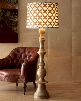 "Love something like this for the salon...particularly the shade. ""Natural"" Floor Lamp by Jamie Young at Horchow."