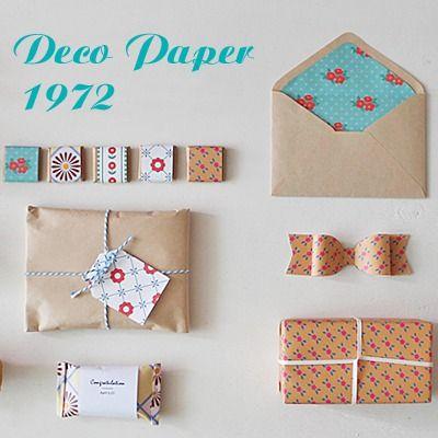 Deco Paper 8set-1972 / pattern design / gift-wrap / wrapping paper / retro design