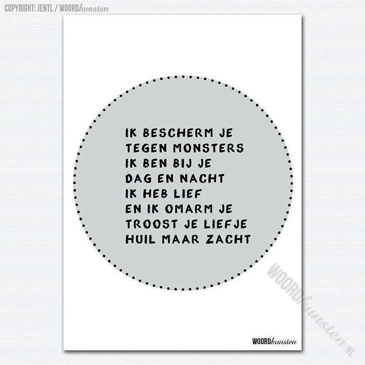Slaap zacht. #woordkunsten #delenmag #kaartindewebshop #poster #kaart #kinderkamer