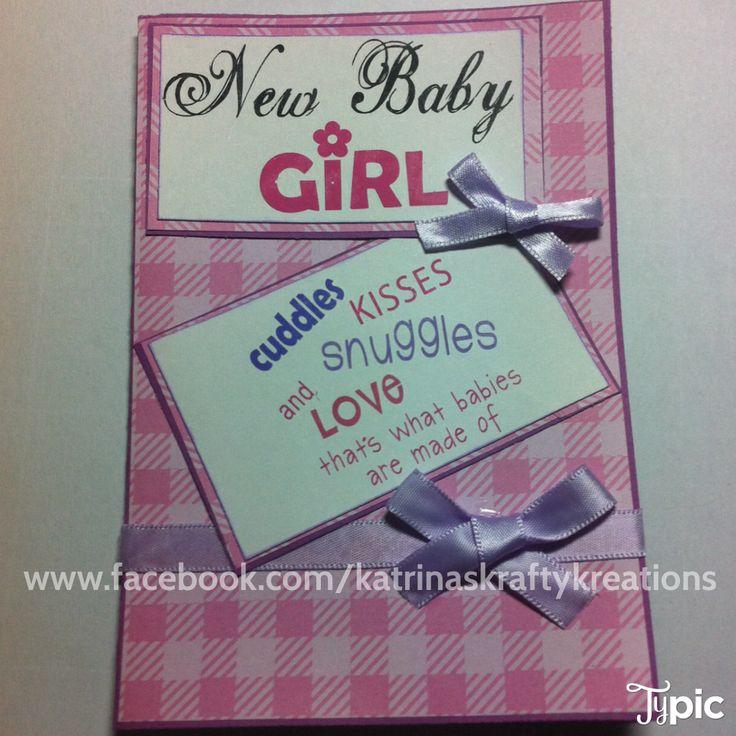 Baby Girl card  Available here www.facebook.com/katrinaskraftykreations