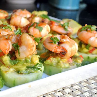 Mojito Shrimp bites. I recently made 100 of these for a party and it was the only dish that was devoured before I even got a chance to have one.
