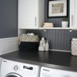 Small Laundry Room Ideas With Black White Furniture And Wall Is Applied In Small Laundry Room Ideas