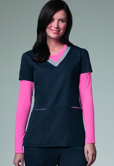 Grey's Anatomy Women's V-neck Scrub Top Style # 41399. NationalScrubs.com Free Shipping $120+