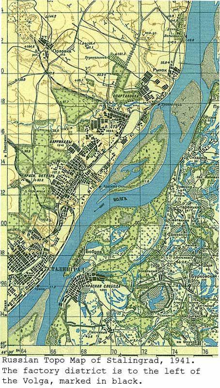 Stalingrad, 1941 map.