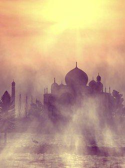 Taj Mahal in haze