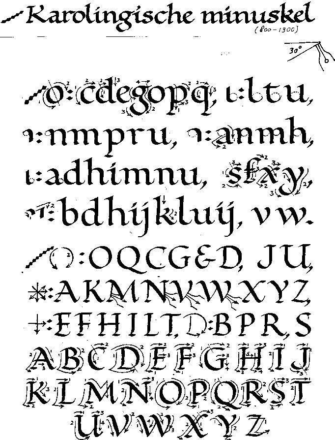 Karolingische minuskel - Google zoeken