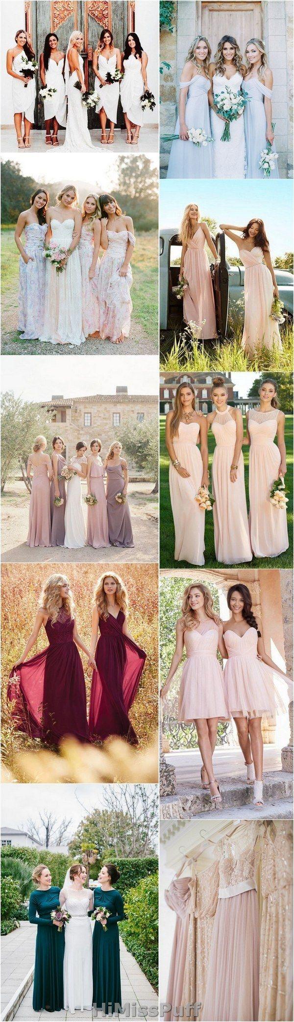 100 Bridesmaid Dresses So Pretty, They'll Actually Wear Them Again / http://www.himisspuff.com/bridesmaid-dress-ideas/