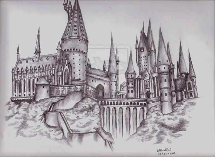 Gallery For gt Hogwarts Line Drawing