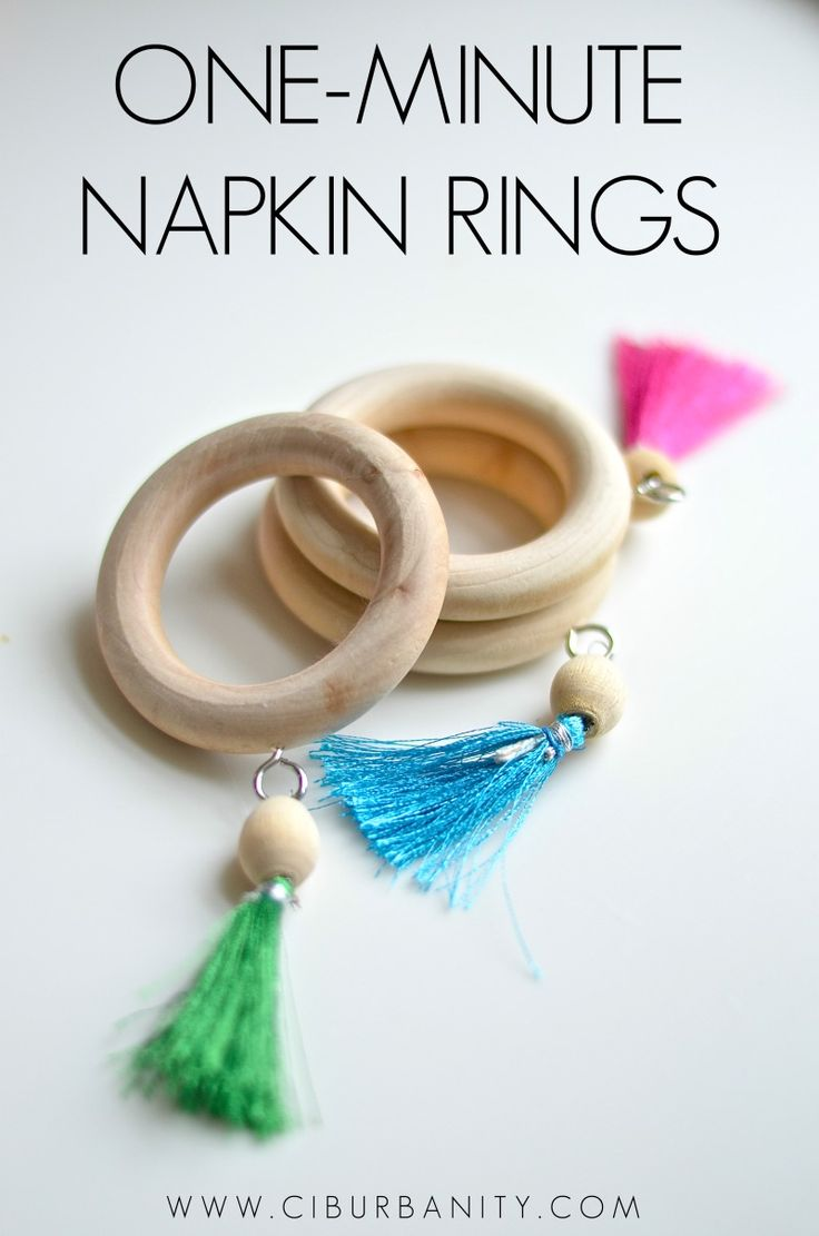 Quick and easy one minute napkin ring Más