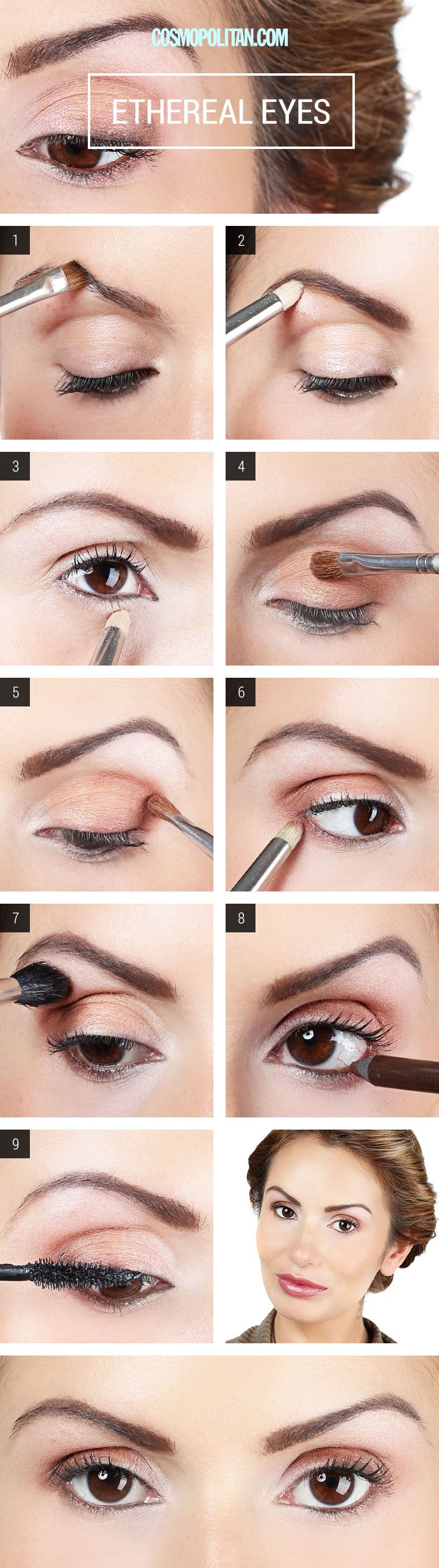Makeup How-To: Ethereal Eyes Makeup How To Apply Champagne Eyeshadow - Eye Makeup Tutorial - Cosmopolitan