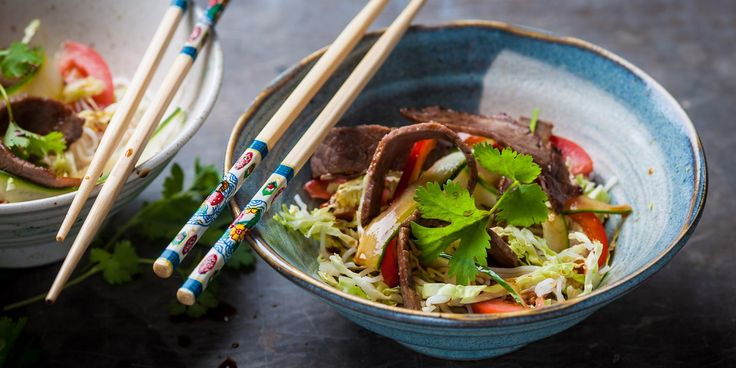 Thai beef salad. This wonderful beef salad recipe from Andrew Mackenzie makes a great light meal that is a perfect way to use up leftover meat.