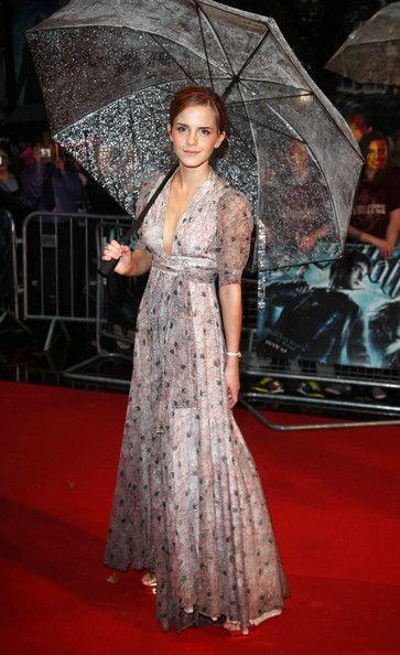 Emma Watson suffers a wardrobe malfunction as her backless dress 14
