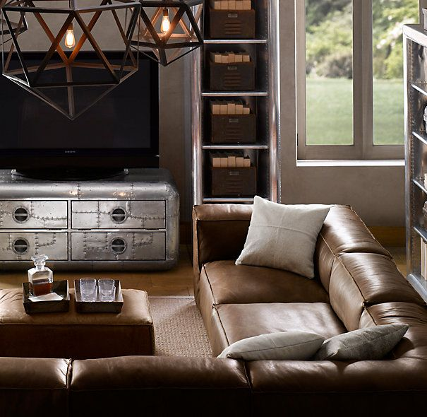 /^\: Leather Sectional, Living Rooms, Leather Couch, Leather Sofas, Man Rooms, Fulham Leather, Leather U.S. Sofas, House, Man Caves