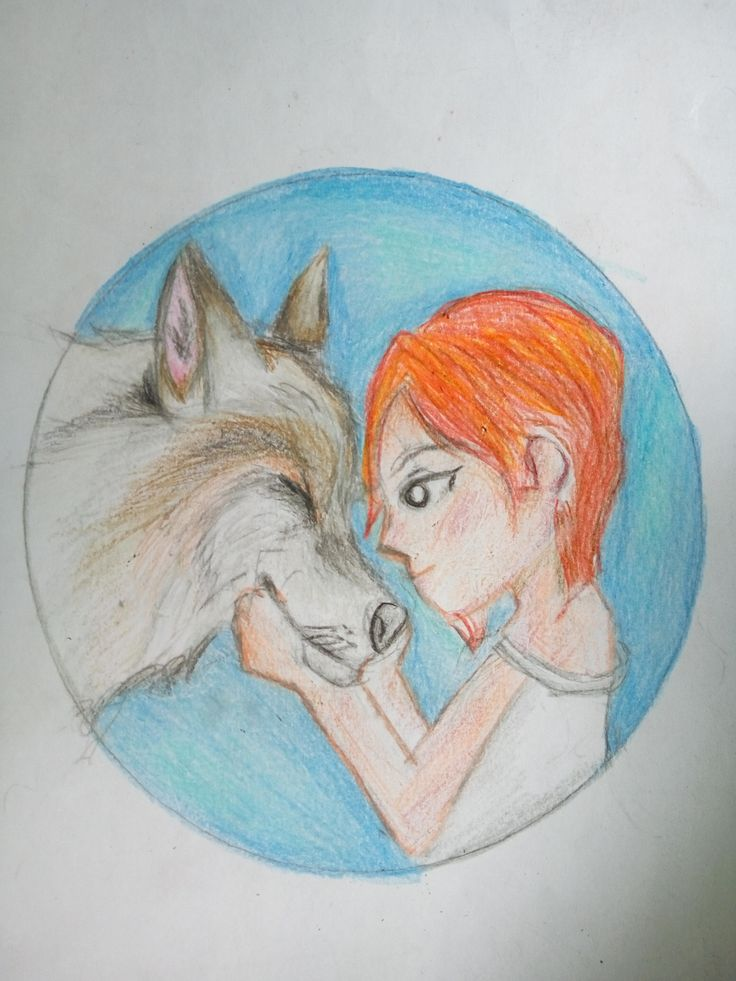 wolf and girl cover for writing story book.This writing exam give me headache and not an easy task when i felt nervous for presentation of my story book.i only get 60 for final exam damn. #arts #animals #nature