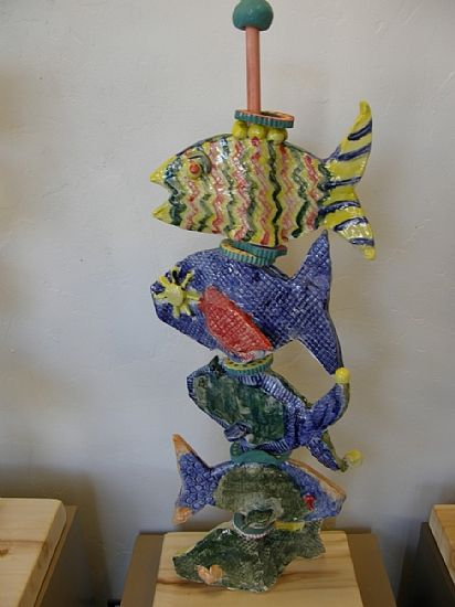 This would be an awesome group project display - then each student would have their fish to take when you disassemble Fish Totem Project by the Summit Young Artists -