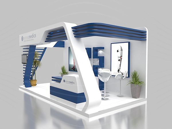 Kubik Exhibition Stand View : Orthomedics booth on behance exhibit idea pinterest