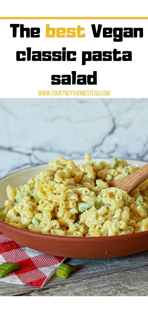 This easy classic vegan pasta salad recipe is the perfect addition to your BBQ, …