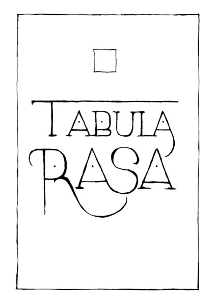 Tabula Rasa = blank slate in latin  #aritziacleanslate