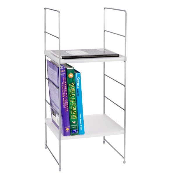 Get a locker shelf to keep your books and notepads organized.
