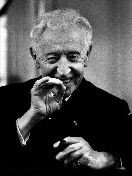 """Arthur Rubinstein in Zurich by Werner Neumeister. """"Most people ask for happiness on condition. Happiness can only be felt if you don't set any condition."""""""