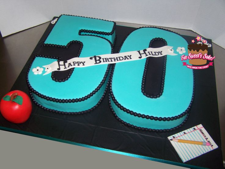 50th Birthday Party Cakes 9x13inch Cake For 50th T