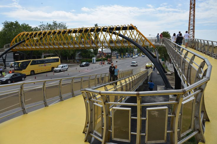 pedestrian bridge, mamaia, romania