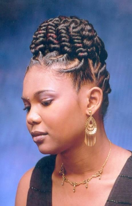 Braided Updos With Bangs For Black Women Mhjau