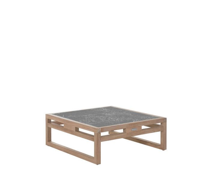 Coffee table with lava stone top 80x80