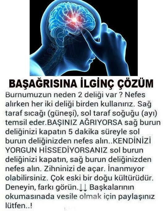 Baş ağrısına ilginç çözüm! #başağrısı #sağlık #saglik #sağlıkhaberleri #health #healthnews