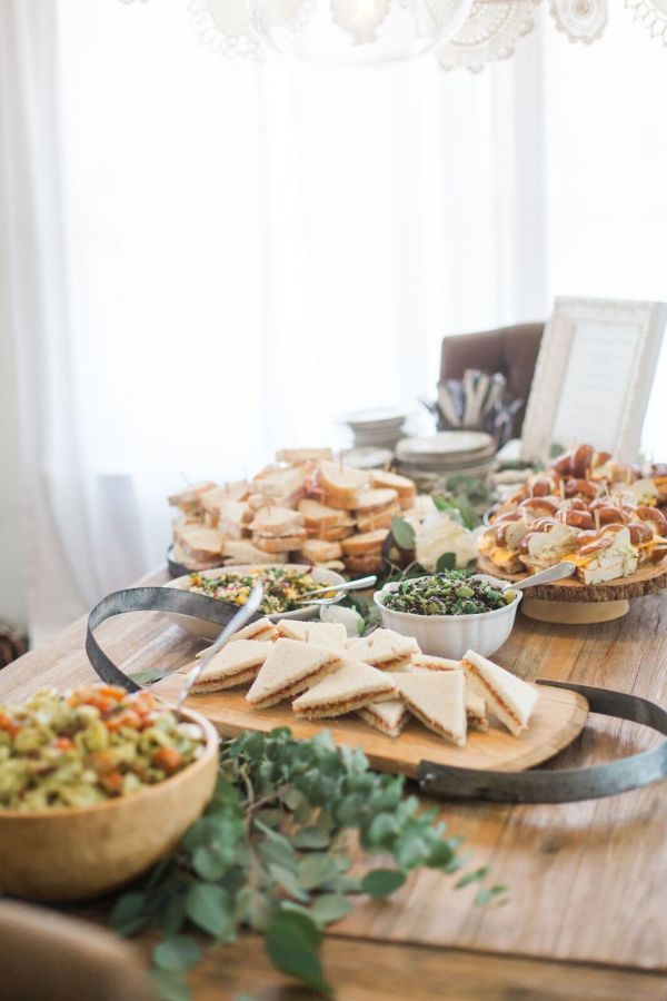 Party finger foods: http://www.stylemepretty.com/living/2016/11/14/celebrating-baby-with-a-bohemian-inspired-baby-shower/ Photography: Jen Strauss - http://lovebirds-lace.com/