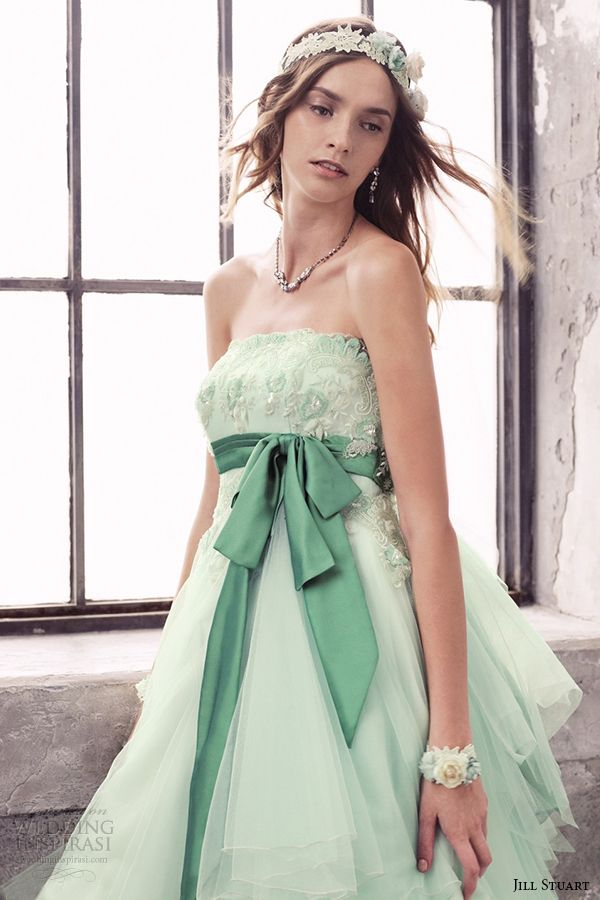 100 ideas to try about mint green wedding palette for Mint and gold wedding dress