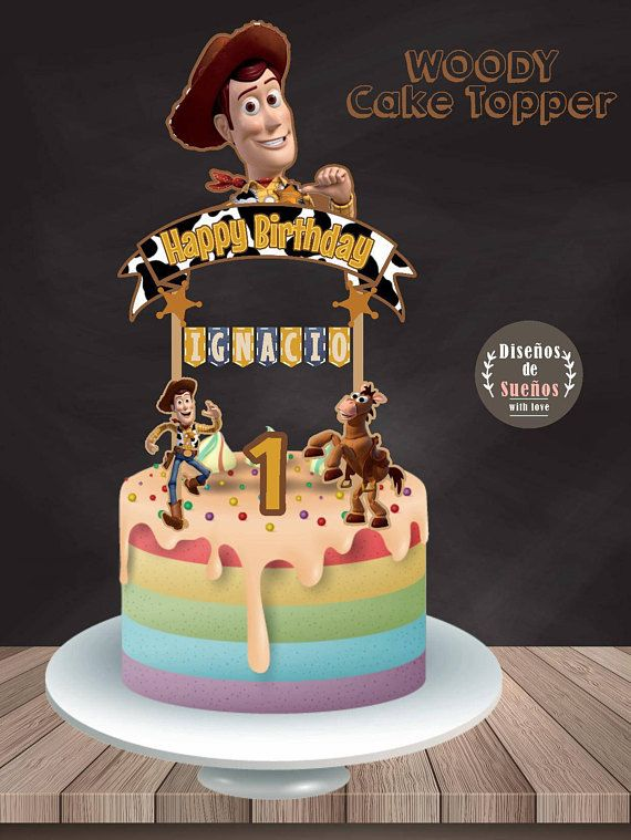 Woody Cake Topper Toy Story Cake Topper Woody Banderin