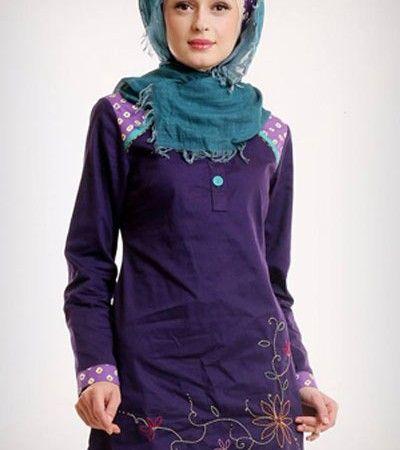 Baju Muslim Azka Blus Let's Play 2 BSK 16 – Ungu Petunia [M]