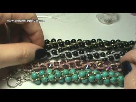 Riciclare perline | bracciali con spirale turca | recycle beads | turkish rope - YouTube