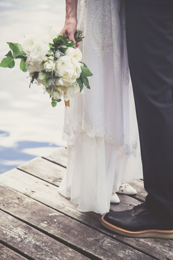 Romantic Wedding Portraits by the Lake | Bonnallie Brodeur Photography | See More! http://heyweddinglady.com/handmade-bohemian-woodland-wedding-from-bonnallie-brodeur-photography/