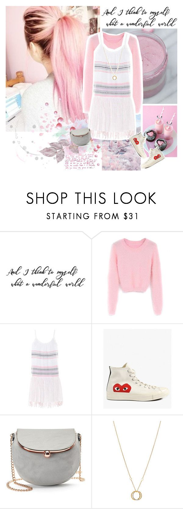 """""""wonderful world."""" by fmk-japanesefashion ❤ liked on Polyvore featuring WithChic, Lemlem, Comme des Garçons, LC Lauren Conrad and Charriol"""