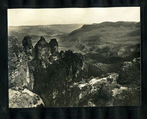 The Three Sisters & Jamieson Valley, Katoomba                                             From an album of Harry Phillips  photos
