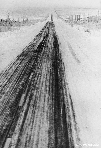 long road, Alaska 1958 by Marc Riboud