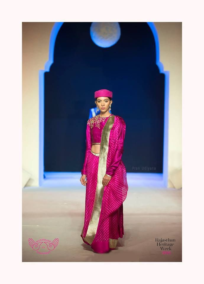 Mharo Des Collection - 'Just our simple everyday leheriya'. The Vidhi Singhania take.