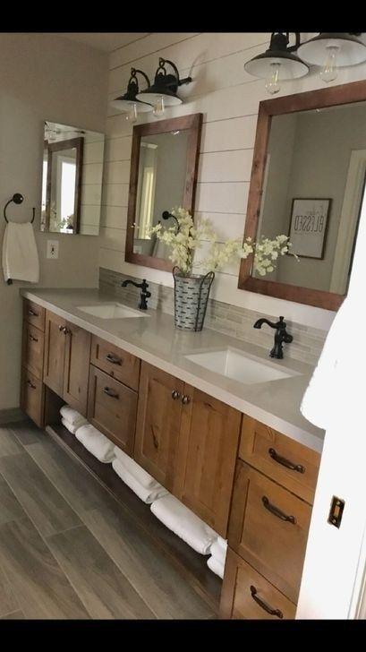 Cute Farmhouse Bathroom Remodel Ideas On A Budget42
